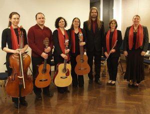 Csala Éva (gordonka), az Ad Libitum Gitáregyüttes, Tarnai Dávid (operaénekes), Vimláti Judit (fuvola), Bárkányi Judit (konferanszié) – MOM – 2018