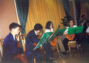 Ad Libitum Guitar Orchestra – Appearance in a Wedding ceremony in Debrecen city – 2000